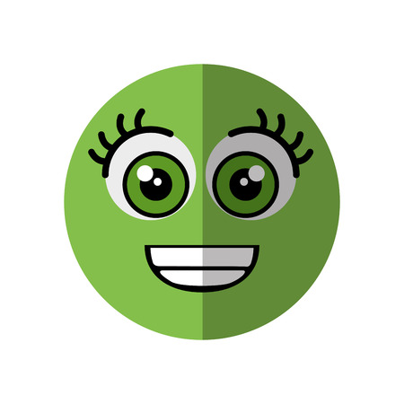 hilarious: cartoon happy face icon over white background vector illustration