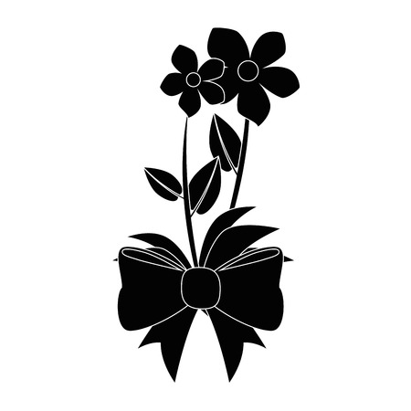flowers bouquet icon over white background vector illustration
