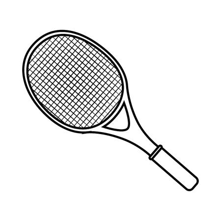 테니스 라켓 격리 된 아이콘 벡터 일러스트 그래픽 디자인