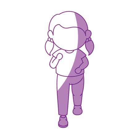 Girl running cartoon icon vector illustration graphic design