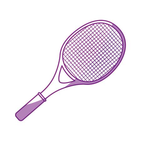 tennis racket isolated icon vector illustration graphic design Illustration