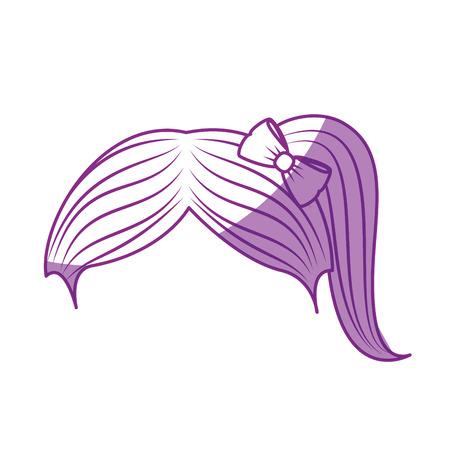 schattig meisje kapsel pictogram vector illustratie grafisch ontwerp