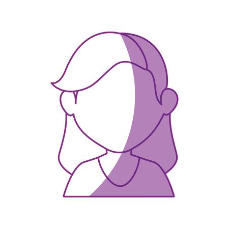 facial hair: girl face cartoon icon vector illustration graphic design