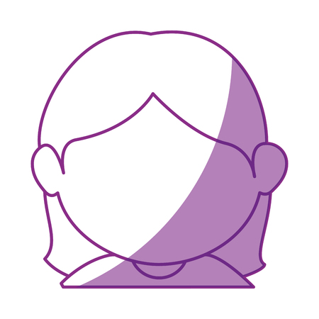 girl face cartoon icon vector illustration graphic design