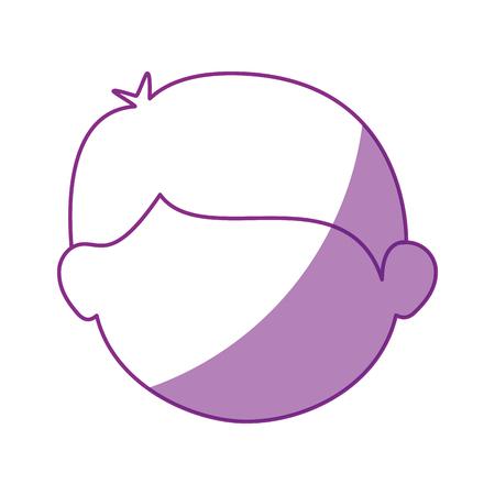 facial hair: boy face cartoon icon vector illustration graphic design