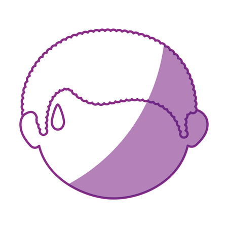 fatigue: boy face cartoon icon vector illustration graphic design