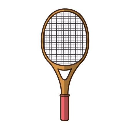 テニス ラケット分離アイコン ベクトル図
