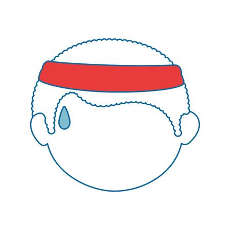 Jongen gezicht cartoon pictogram vector illustratie grafisch ontwerp Stockfoto - 80683724