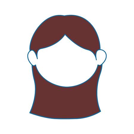 Vrouwen gezicht cartoon pictogram vector illustratie grafisch ontwerp Stock Illustratie