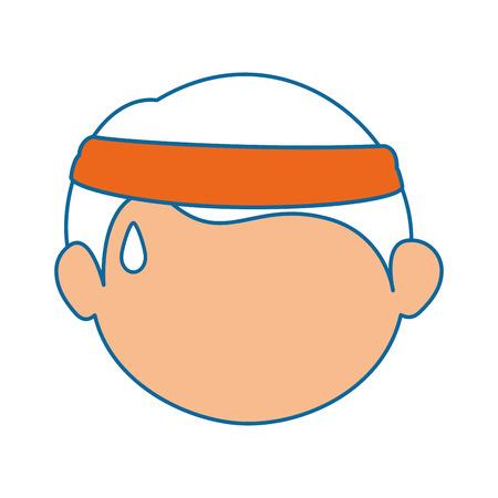소년 얼굴 만화 아이콘 벡터 일러스트 그래픽 디자인 일러스트