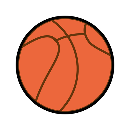 cute basket ball isolated cartoon vector graphic illustration