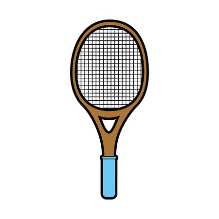 tennis racket isolated icon vector illustration graphic design Banco de Imagens - 80684547