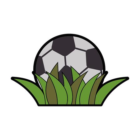サッカーボール漫画アイコンベクトルイラストグラフィックデザイン