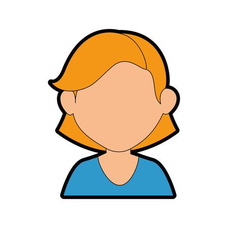 women face cartoon icon vector illustration graphic design