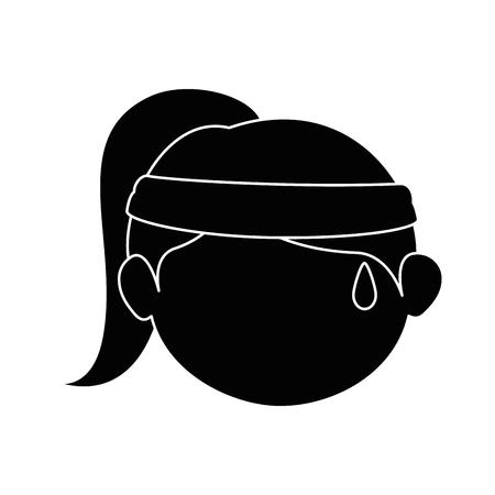 소녀 얼굴 만화 아이콘 벡터 일러스트 그래픽 디자인