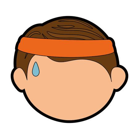 Jongen gezicht cartoon pictogram vector illustratie grafisch ontwerp Stockfoto - 80684577