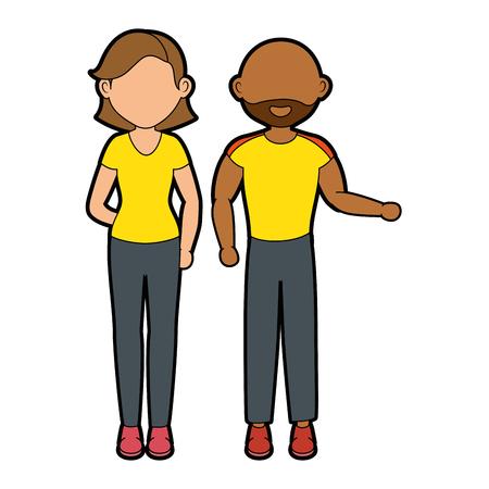 women and man icon vector graphic illustration Illustration