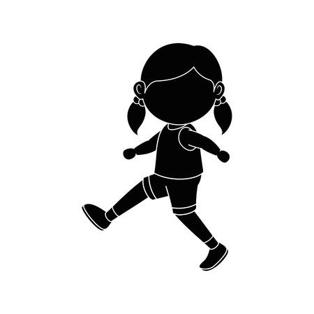 에어로빅 아이콘 벡터 일러스트 그래픽 디자인을 하 고하는 소녀 일러스트