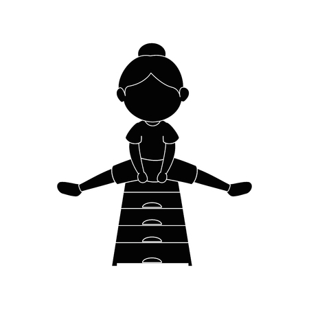 Girl doing aerobics icon vector illustration graphic design