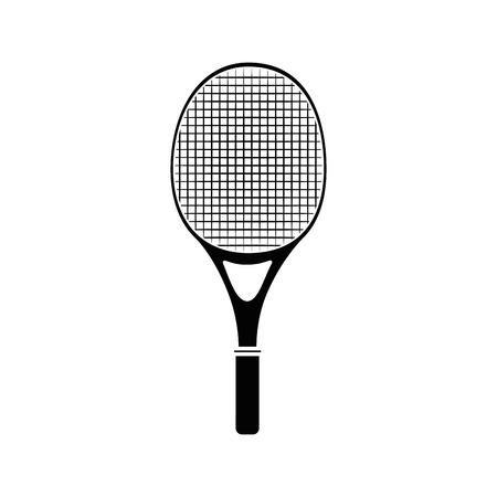 tennis racket isolated icon vector illustration graphic design Çizim