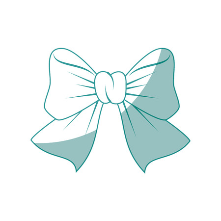 decorative bow icon over white background vector illustration Stock Vector - 80684688