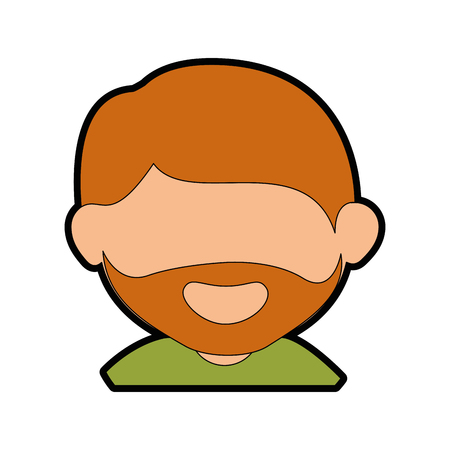 adult man face cartoon icon vector illustration graphic design Ilustracja