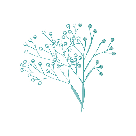 beautiful flower icon over white background vector illustration Stock fotó - 80684896