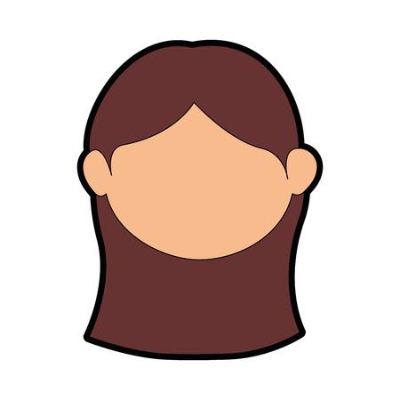 여자 얼굴 만화 아이콘 벡터 일러스트 그래픽 디자인