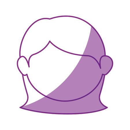 child care: girl face cartoon icon vector illustration graphic design