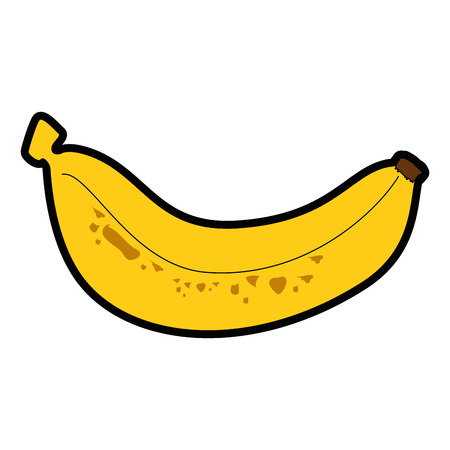 market gardening: banana fruit icon over white background vector illustration Illustration