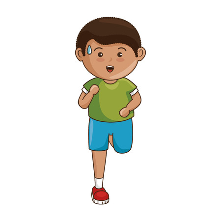 cartoon boy icon over white background colorful design vector illustration