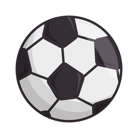 白地カラフルなデザインのベクトル図のサッカー ボールのアイコン