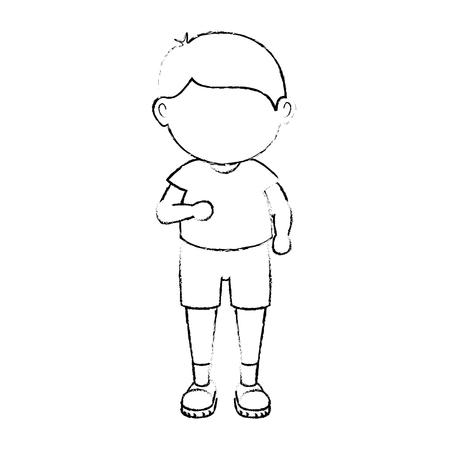 avatar boy icon over white background vector illustration
