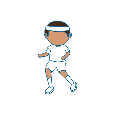avatar boy icon over white background vector illustration