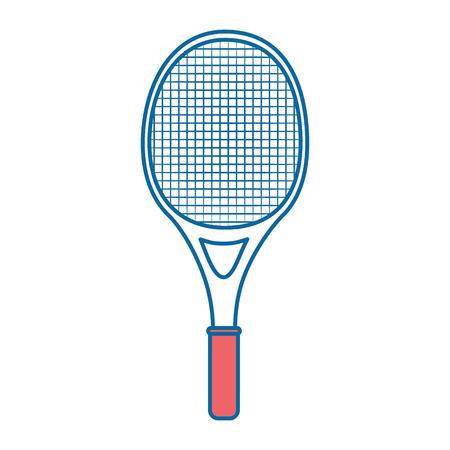 tennis racket icon over white background vector illustration Ilustrace