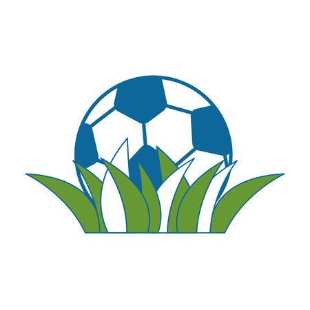 soccer ball icon over white background vector illustration