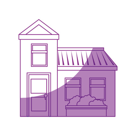 Isolierte Wohngebäude Symbol Vektor Grafik Illustration Standard-Bild - 80686609
