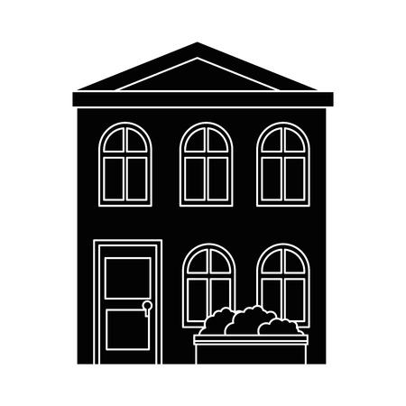 Isolierte Wohngebäude Symbol Vektor Grafik Illustration Standard-Bild - 80686623
