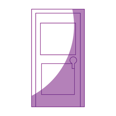 exterior architectural details: isolated door cartoon icon vector graphic illustration Illustration