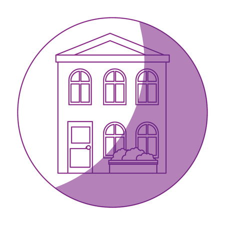Isolierte Wohngebäude Symbol Vektor Grafik Illustration Standard-Bild - 80687479