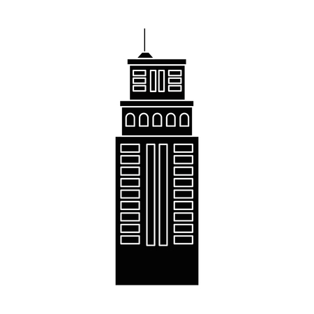 districts: urban building tower icon vector graphic illustration