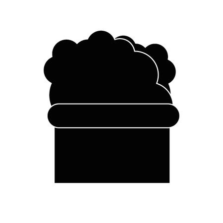 Geïsoleerde bush cartoon pictogram vector grafische illustratie