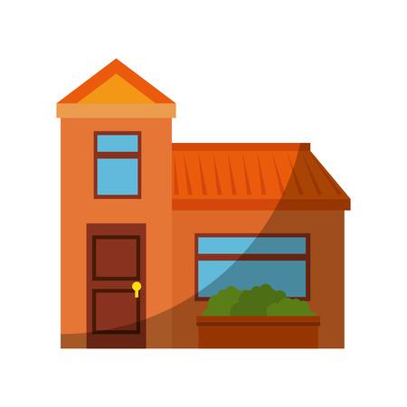 Isolierte Wohngebäude Symbol Vektor Grafik Illustration Standard-Bild - 80686697