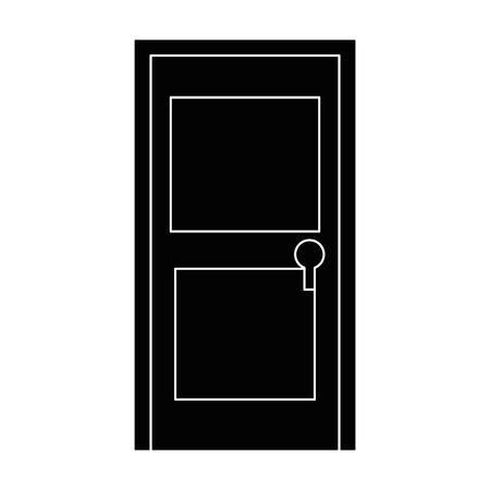 geïsoleerde deur cartoon pictogram vector grafische illustratie