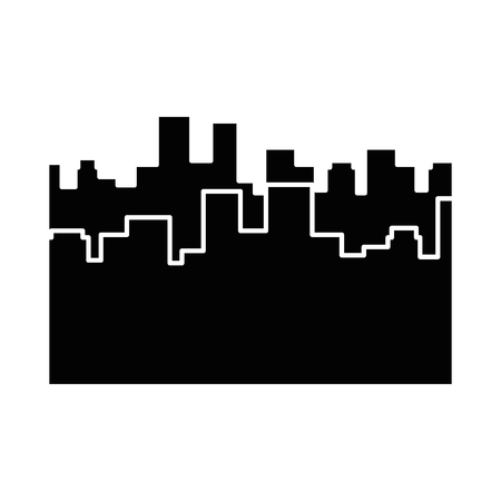 city view silhouette icon vector graphic illustration Illusztráció