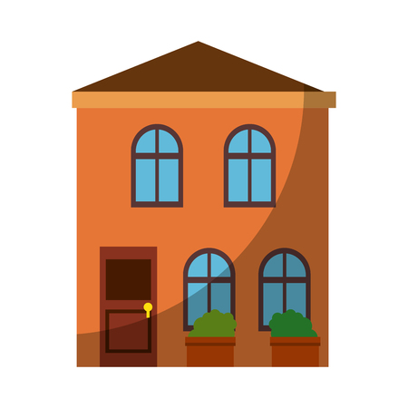 Isolierte Wohngebäude Symbol Vektor Grafik Illustration Standard-Bild - 80686966