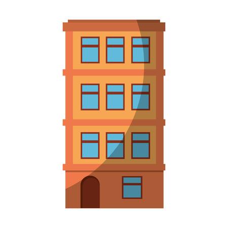 urban building tower icon vector graphic illustration Banco de Imagens - 80687284