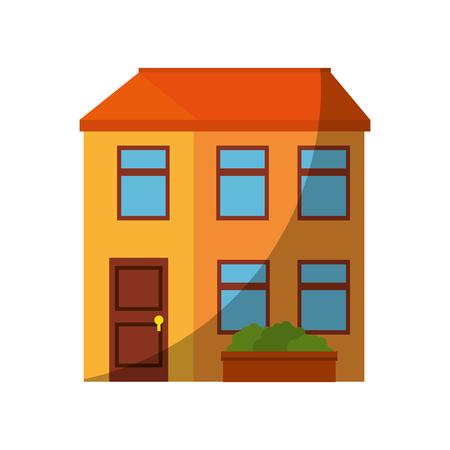 고립 된 집 건물 아이콘 벡터 그래픽 일러스트