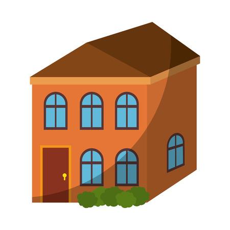 Isolierte Wohngebäude Symbol Vektor Grafik Illustration Standard-Bild - 80686968