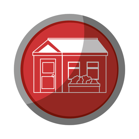 isolated home building icon vector graphic illustration